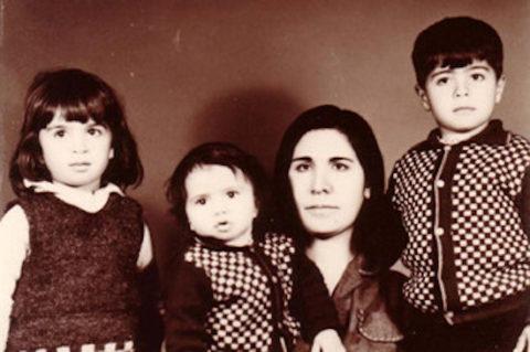 فاطمه سعیدی و فرزندانش
